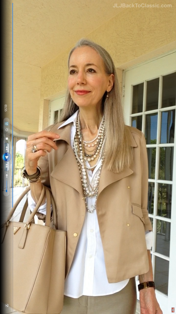 2Classic-Fashion-Over-40/50-Ann-Taylor-Moto-Jacket-Pearls-Prada-Bag