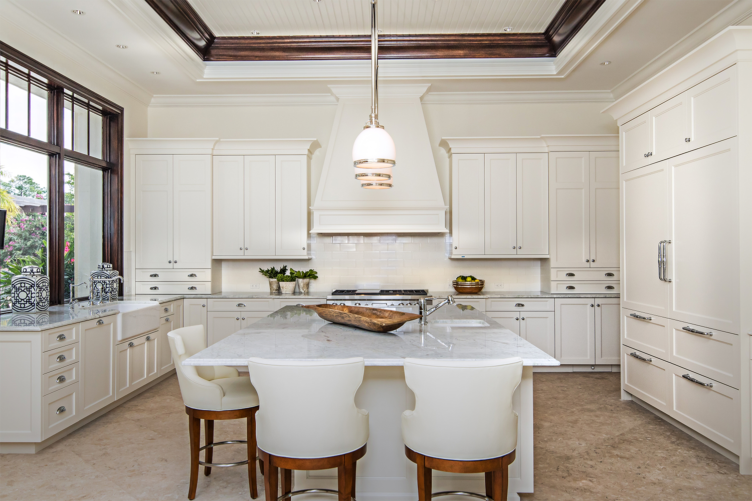 Using Cabinetry To Make An All-White Kitchen Interesting – JLJ Back ...
