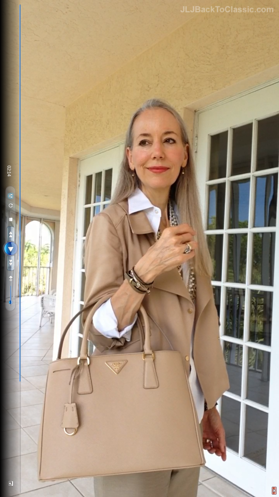 3Classic-Fashion-Over-40/50-Ann-Taylor-Moto-Jacket-Pearls-Prada-Bag