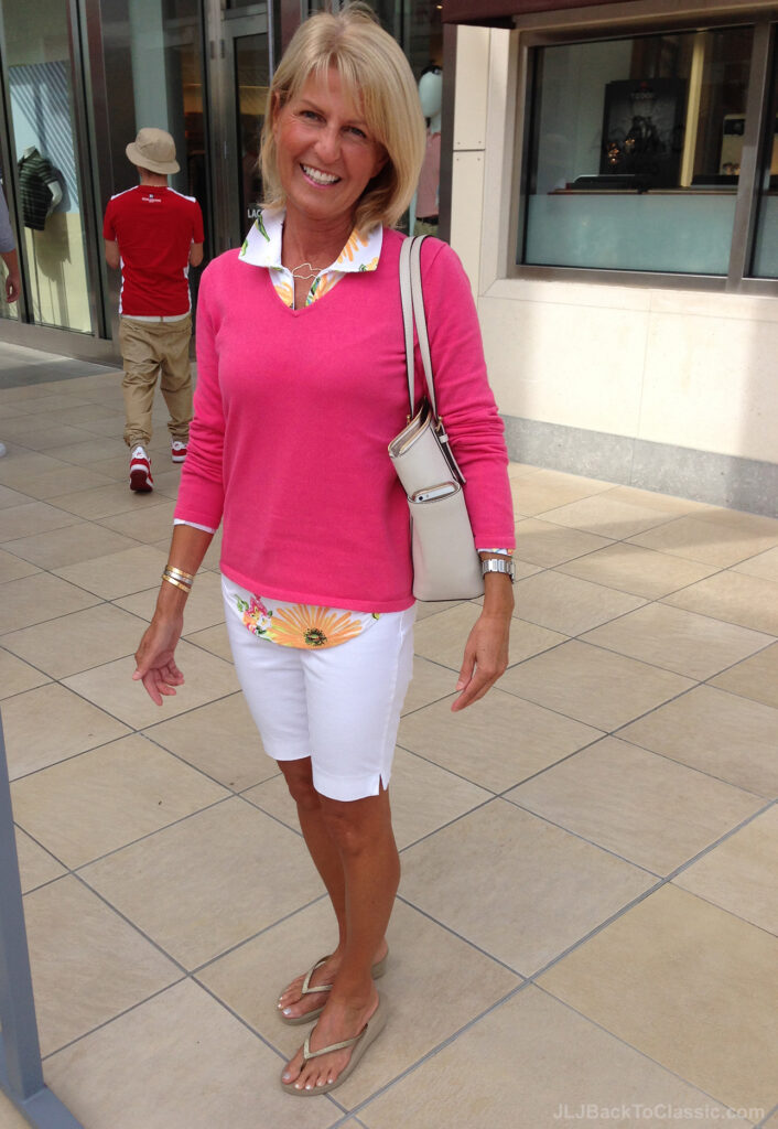 -Lilly-Pulitzer-Sweater-Ann-Taylor-Shorts