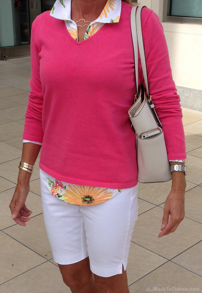 Lilly-Pulitzer-Sweater-Ann-Taylor-Shorts