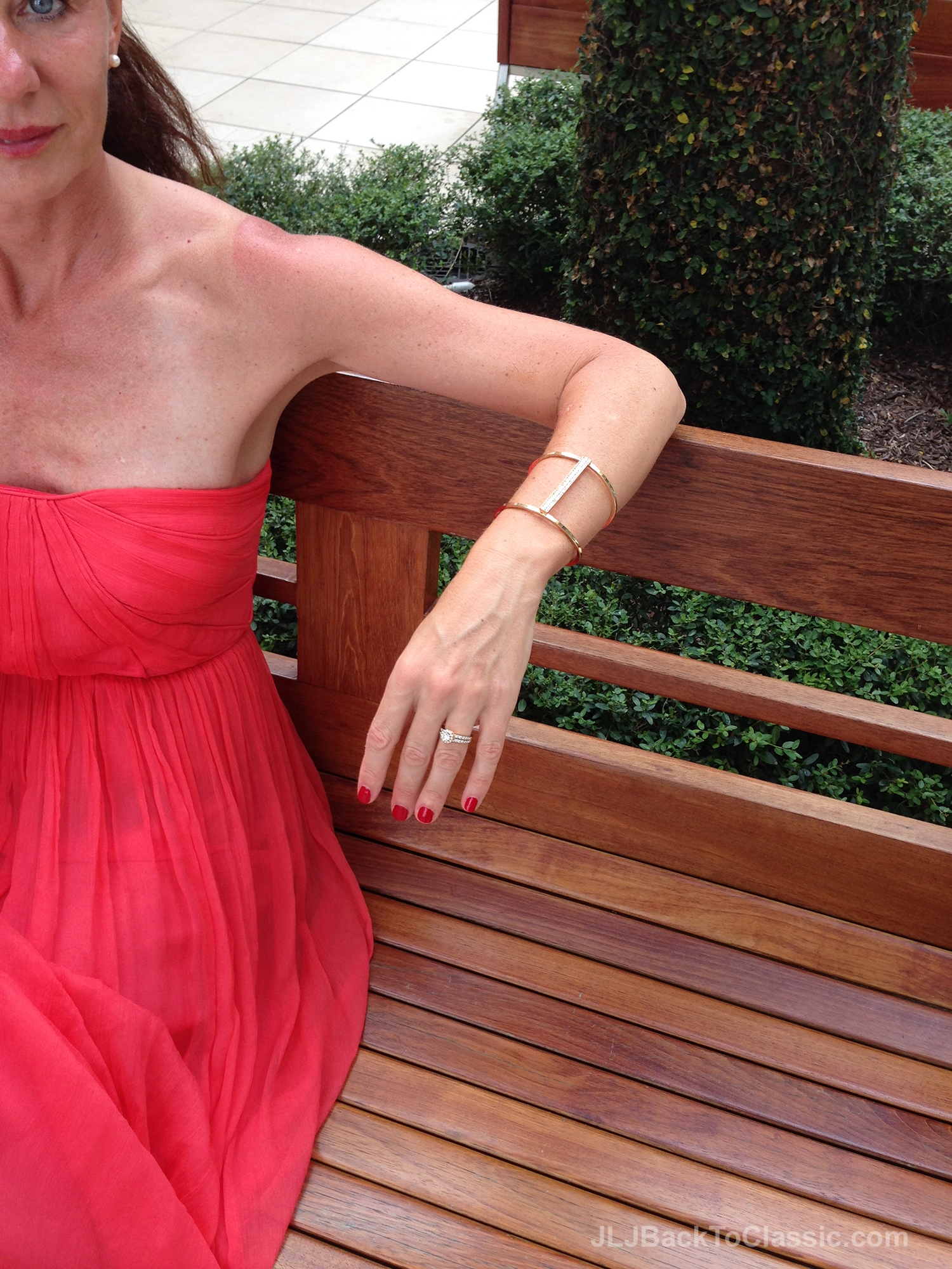 Resort Style: Red, Strapless Maxi Dress – JLJ Back To ...