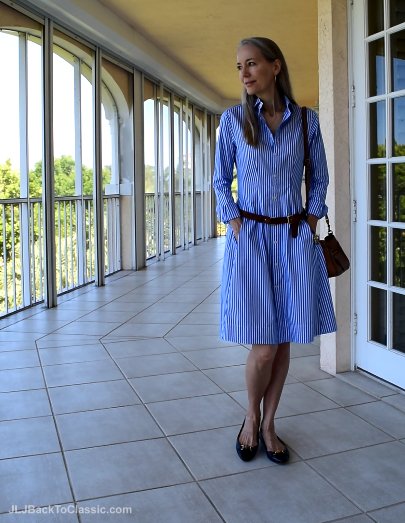 Ralph Lauren Shirt Dress Tory Burch Bag Talbots