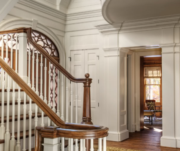 Entry-Foyer-Of-Shingle-Style-House-By-Stephen-Fuller