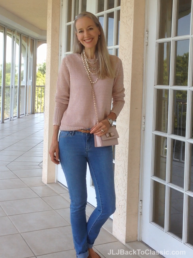 Pink-Ann-Taylor-Sweater-And-Salvatore-Ferragamo-Vara-Bow-Bag