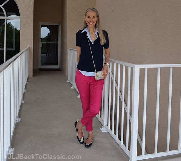 Brooks-Brothers-Sweater-And-Shirt-Lilly-Pulitzer-Crossbody-and-Flats