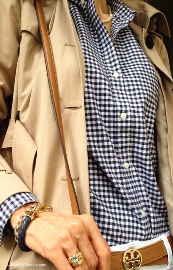 Michael-Kors-Trench-Gap-Gingham-Button-Down-Tory-Burch-Belt