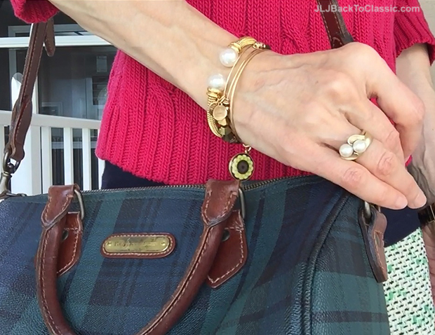 Ralph-Lauren-Black-Watch-Plaid-Bag-Michael-Kors-Watch-Alex-And-Ani-Bangles