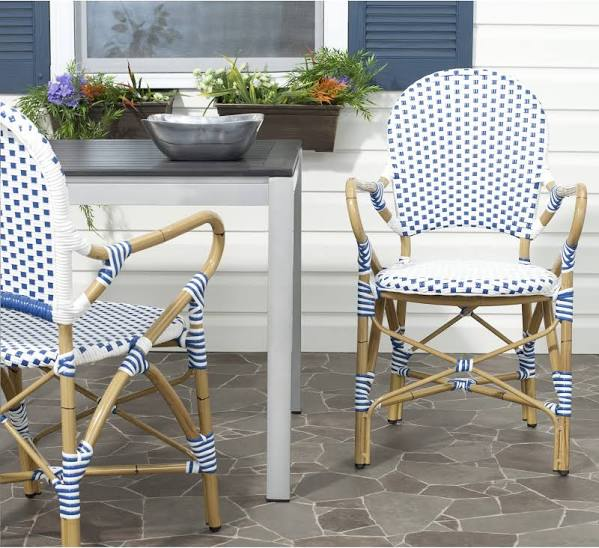 Safavieh-Hooper-Blue-White-Indoor-Outdoor-Arm-Chair-Overstock.com