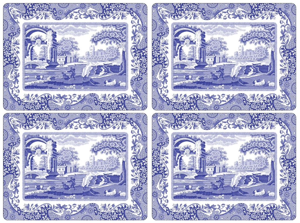 Spode-Blue-Italian-Hardbacked-Placemats-Amazon.com