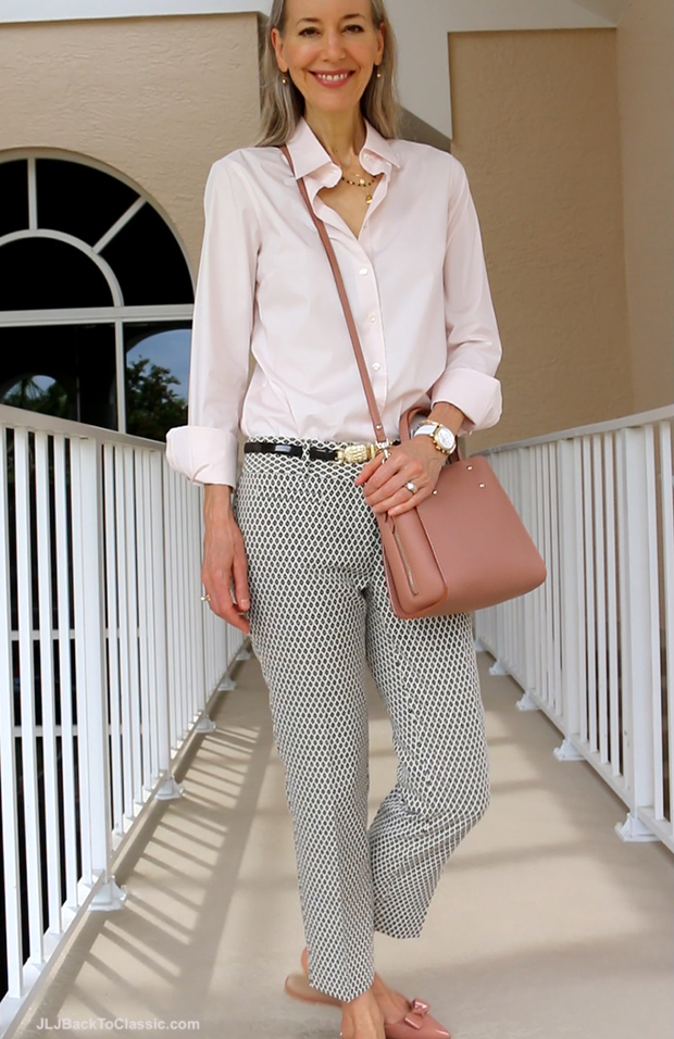 Fashion-Over-40-J.Crew-Blush-Perfect-Stretch-Shirt-Ann-Taylor-Crossbody-Janis-Lyn-Johnson