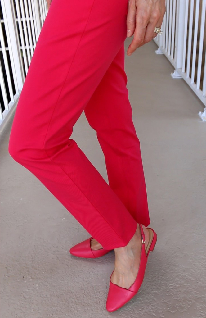 Talbots-Raspberry-Slim-Ankle-Pants-and-Slingback-Flats-Fashion-Over-40-Over-50