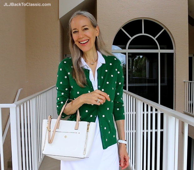 Janis-Lyn-Johnson-Fashion-Over-40-50-Talbots-Charming-Cardigan-Ralph-Lauren-Polo-Dress