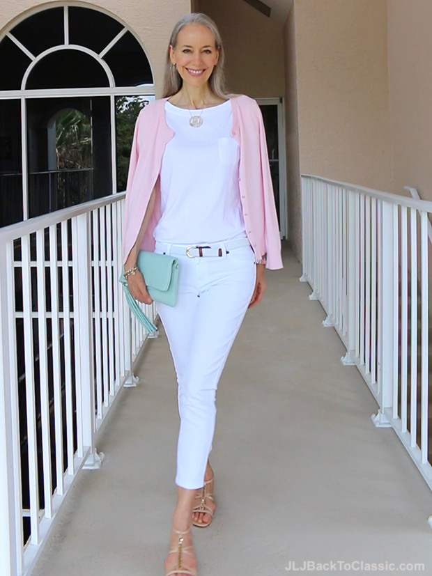(Video) Classic Fashion Over 40/How To Style White Jeans ...