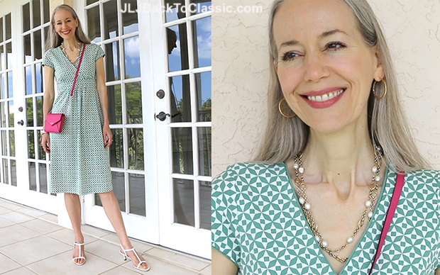 Janis-Lyn-Johnson-Classic-Fashion-Over-40-Boden-Empire-Waist-Dress-Kate-Spade-Bag