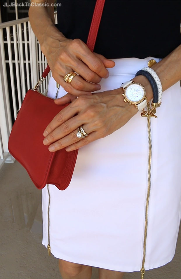 Classic-Fashion-Over-40-Michele-CSX-Watch-Michael-Kors-Zipper-Skirt-Talbots-Crossbody