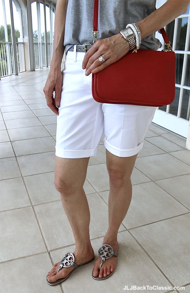 video classic fashion over 40 red white and gray