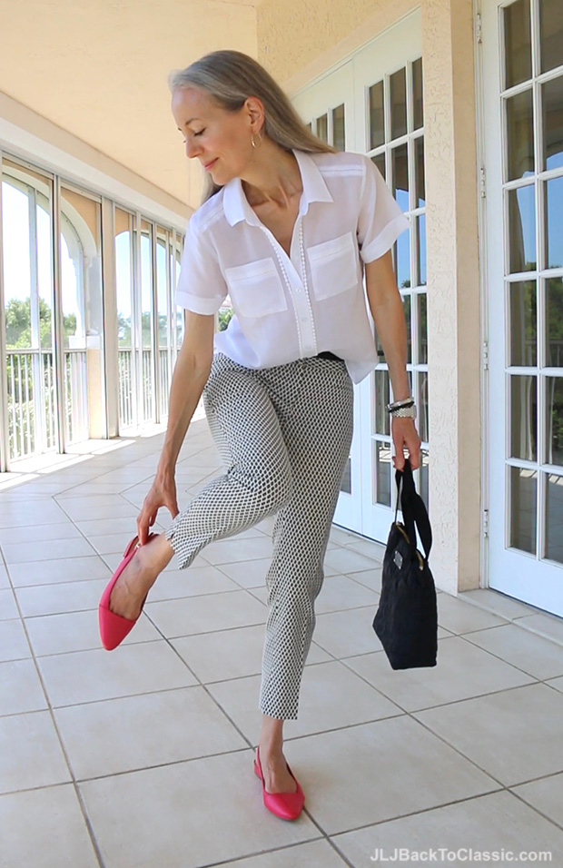 Classic-Fashion-Over-40-50-Ann-Taylor-Pants-Top-Kate-Spade-Bag
