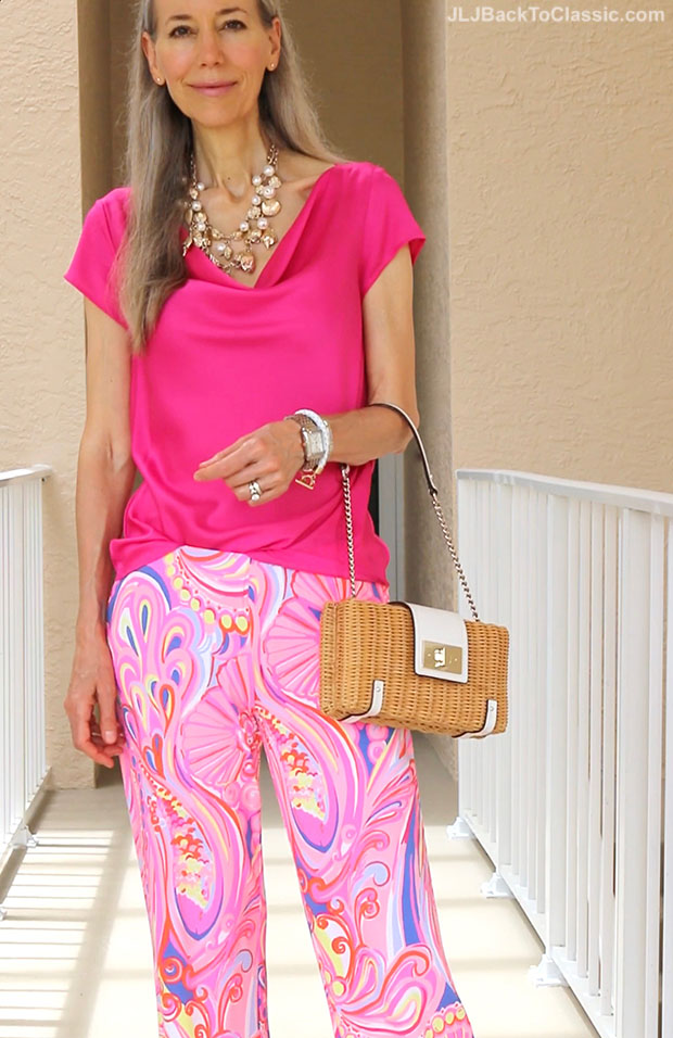 Classic-Fashion-Over-40-Pink-Ann-Taylor-Top-Lilly-Pulitzer-Palazzo-Pant