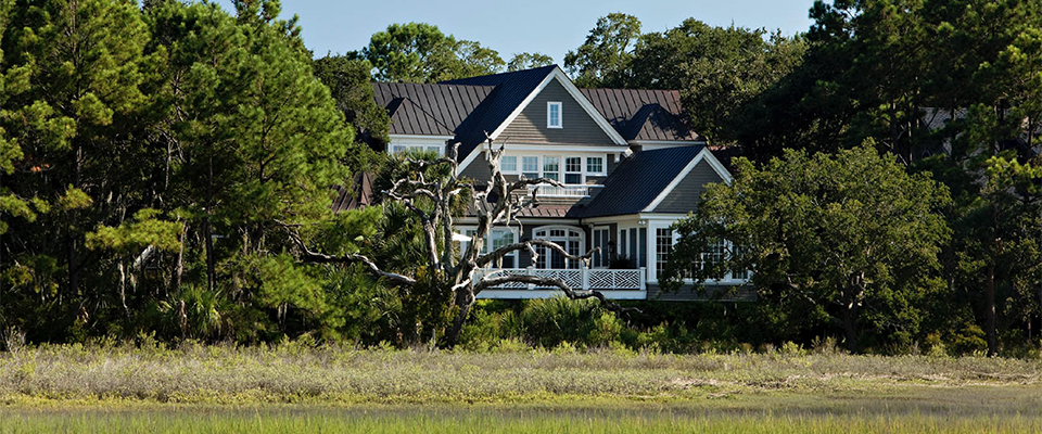 A Southern Colonial-Style Marsh-Front Home on Kiawah Island, South Carolina