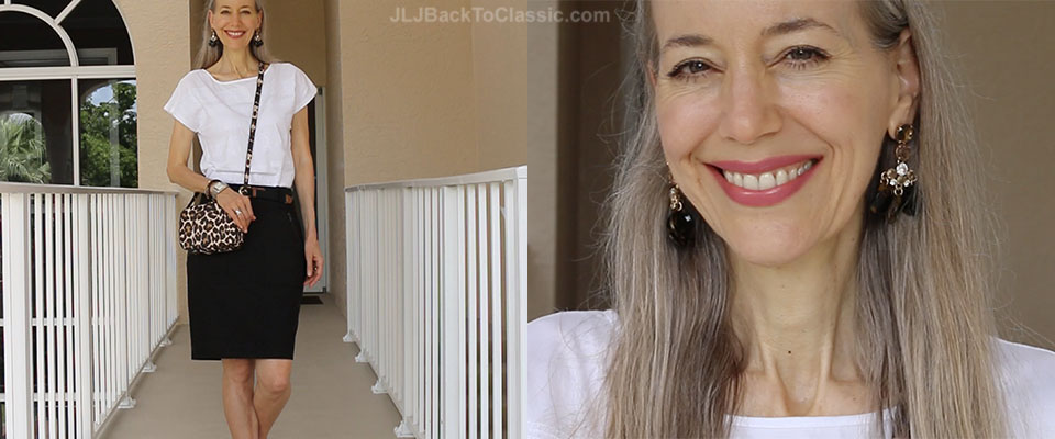 (Video Chat) Classic Fashion Over 40/50: Warm-Weather Fall Pairing of Black and White With Cognac