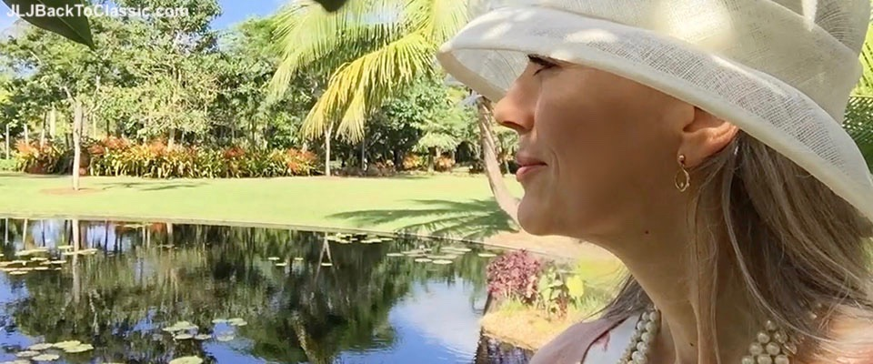 (Vlog) Classic Fashion Over 40/50: Hats In The Garden 2016 at Naples Botanical Garden, and What We Wore