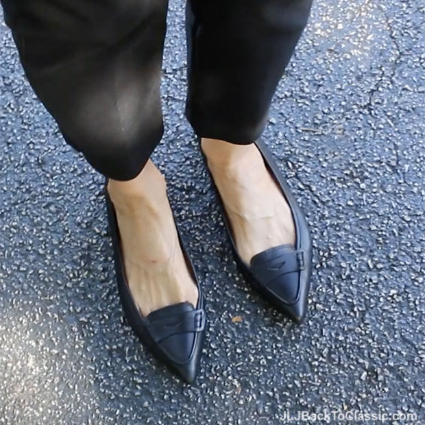 classic-fashion-over-40-black-brooks-brothers-pointy-toe-flats