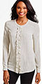 classic-fashion-40-plus-talbots-ruffle-band-collar-shirt-dot-stripes
