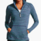 Classic-Fashion-Over-40-50-Talbots-Toboggan-Stripe-Half-Zip-Pullover