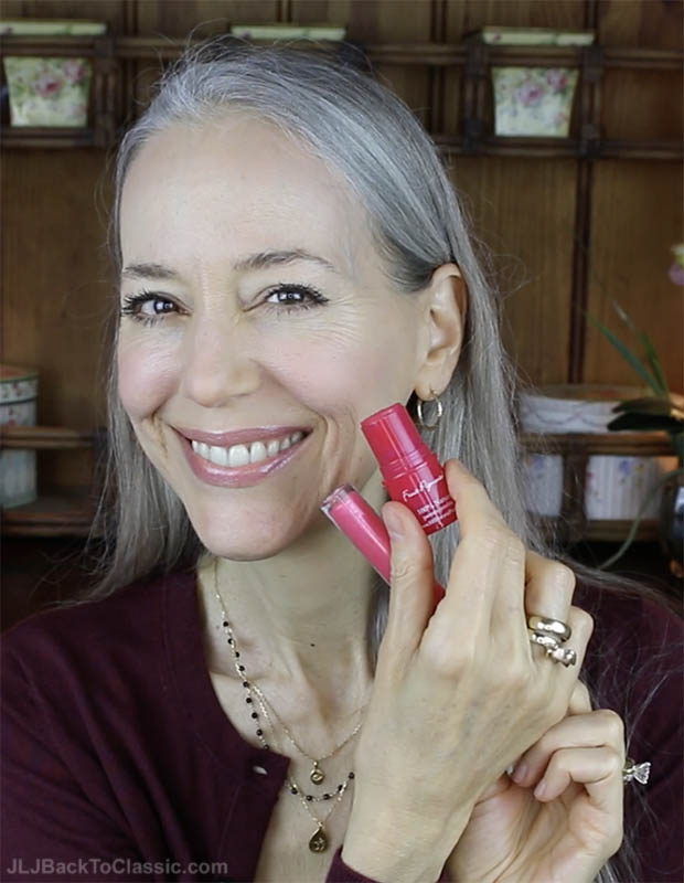 Classic-Beauty-Over-50-Makeup-Review-100-Percent-Pure-Cheek-Tint-and-Gemmed-Lipgloss