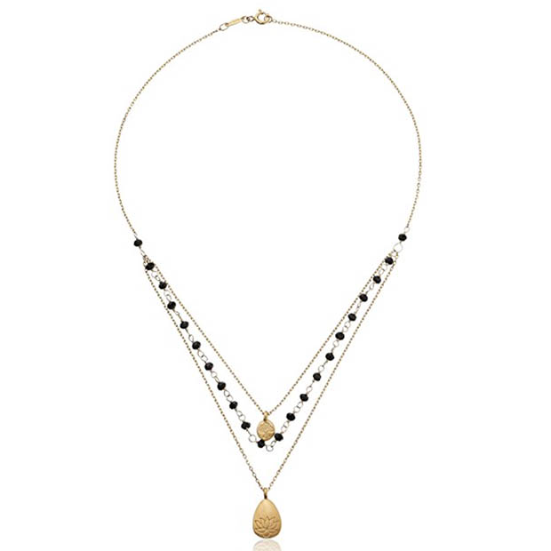Classic-Fashion-Over-40-50-satya-Onyx-Triple-Strand-Necklace
