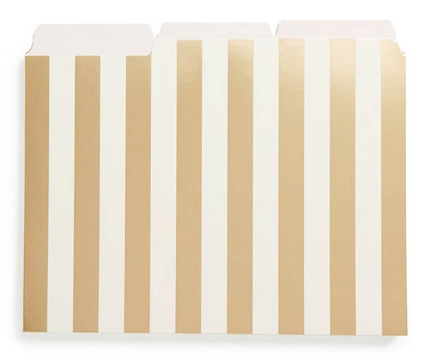 Classic-Office-Decor-Kate-Spade-Gold-Foil-Stripe-Folders-Amazon