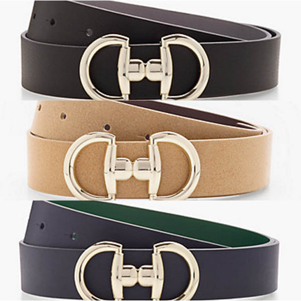 Classic-Fashion-Over-40-50-Talbots-Novelty-Reversible-Buckle-Equestrian-Theme-Belts