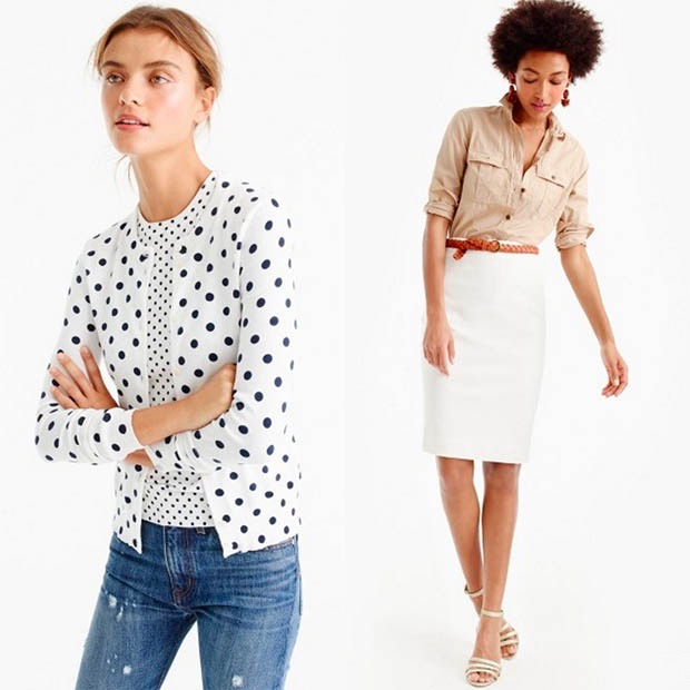 Classic-Fashion-Over-40-J-Crew-Dot-Cardigan-and-Pencil-Skirt