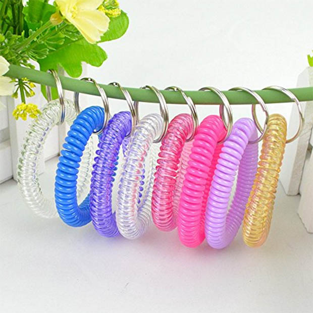 Elastic-Wrist-Band-Key-Rings-10-Pack