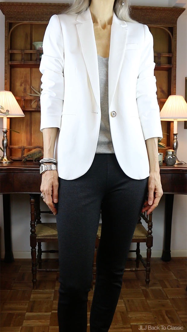 Classic-Fashion-J-Crew-White-Cambell-Blazer-Pixie-Pant-Janis-Lyn-Johnson