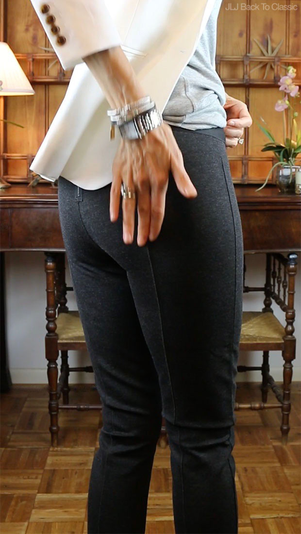 Classic-Fashion-Over-40-J-Crew-Back-Zip-Hthr-Charcoal-Pixie-Pant