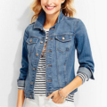 Classic-Fashion-Over-40-50-Talbots-Classic-Denim-Jacket