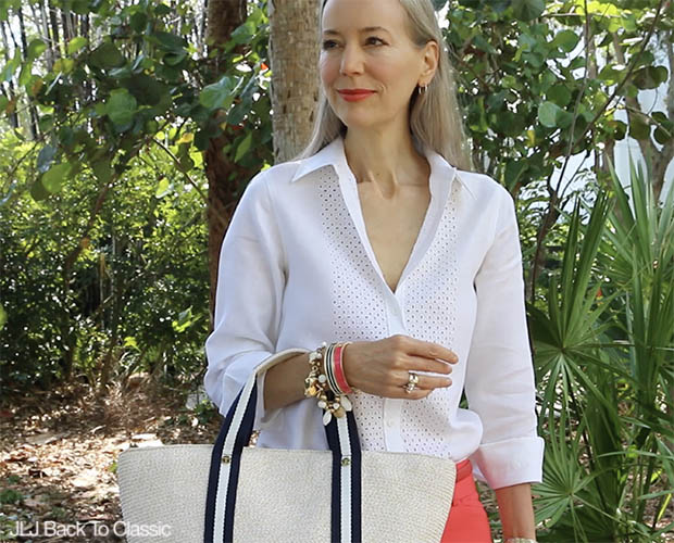 Classic-Fashion-Over-40-50-Talbots-White-Linen-Shirt-Janis-Lyn-Johnson