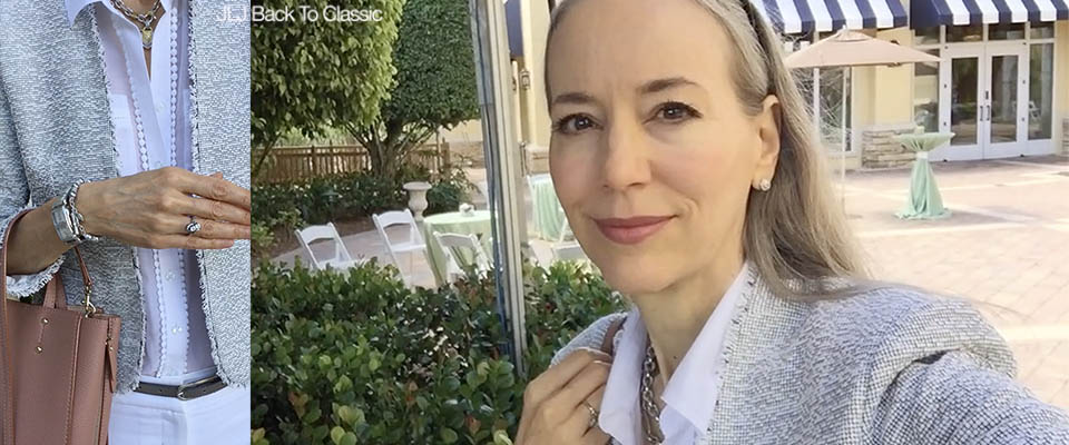 (Vlog) Classic Fashion Over 40-50: League Club Luncheon at The Ritz-Carlton Golf Resort, Naples FL–What I Wore
