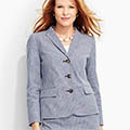Talbots-Tailored-Blue-White-Gingham-Blazer