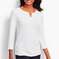 Classic-Fashion-Over-40-Talbots-Side-Ruched-Tee