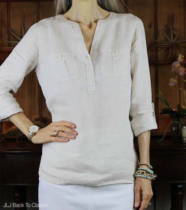 Classic-Fashion-Talbots-Linen-Camp-Shirt-Front