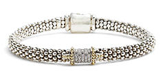 Lagos-Silver-and-Gold-Diamond-Caviar-Bracelet