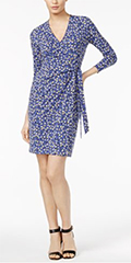 Anne-Klein-Faux-Printed-Wrap-Dress