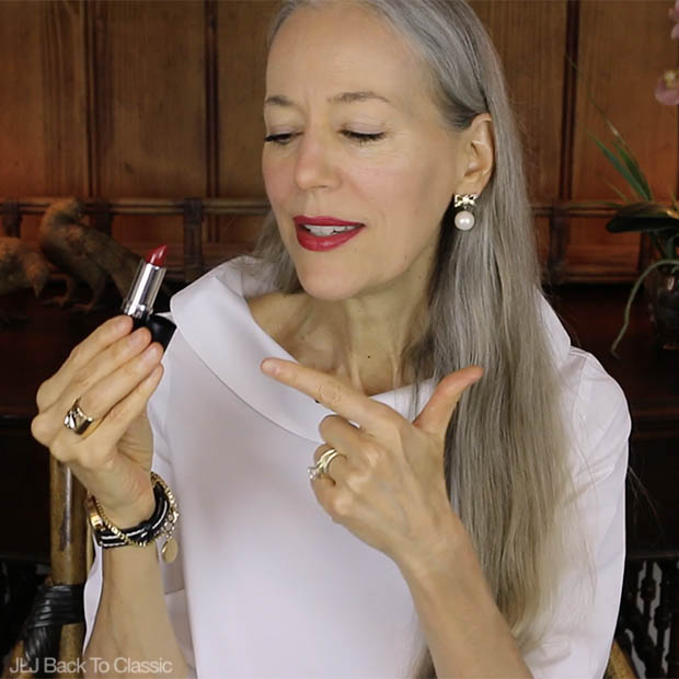 Classic-Beauty-Over-50-Video-Review-Gabriel-Pomegranate-Lipstick