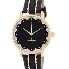 Classic-Fashion-Over-40-50-Kate-Spade-Women's Scalloped-Metro-Leather-Watch