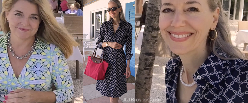 (Vlog) Classic Fashion/Style Over 40-50: Beachside Lunch at The Naples Beach Hotel and My Shirt Dress OOTD