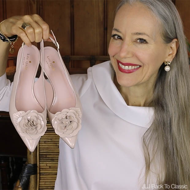 Classic-Fashion-Style-Over-40-50-Talbots-Kate-Spade-Mercer-Slingback-Pumps-Video-Review