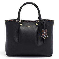 Henri-Bendel-Claremont-Satchel-Black-With-Interior-Foulard-Print-Monogrammable